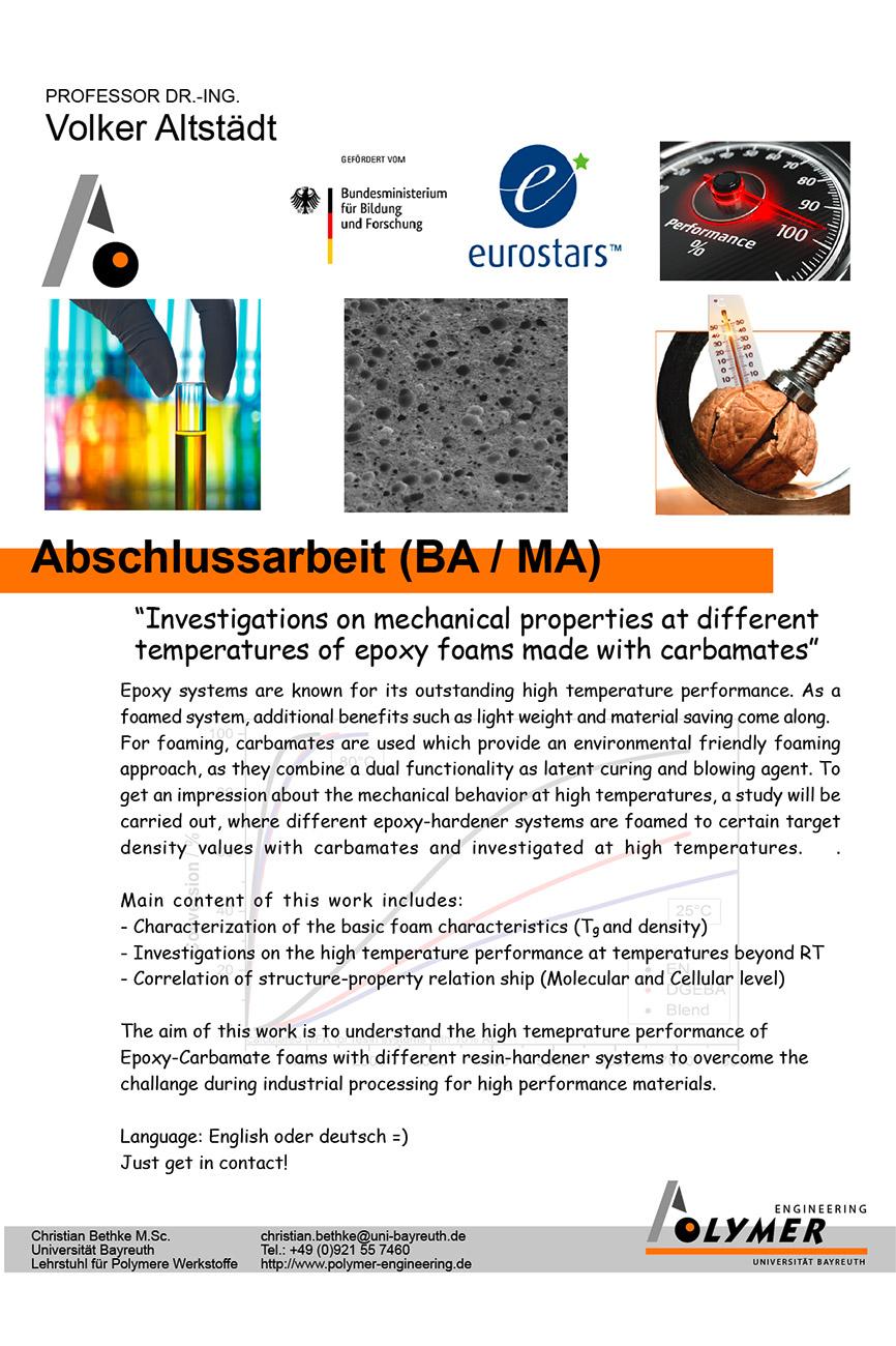 Thema für Abschlussarbeit | Polymer Engineering Bayreuth