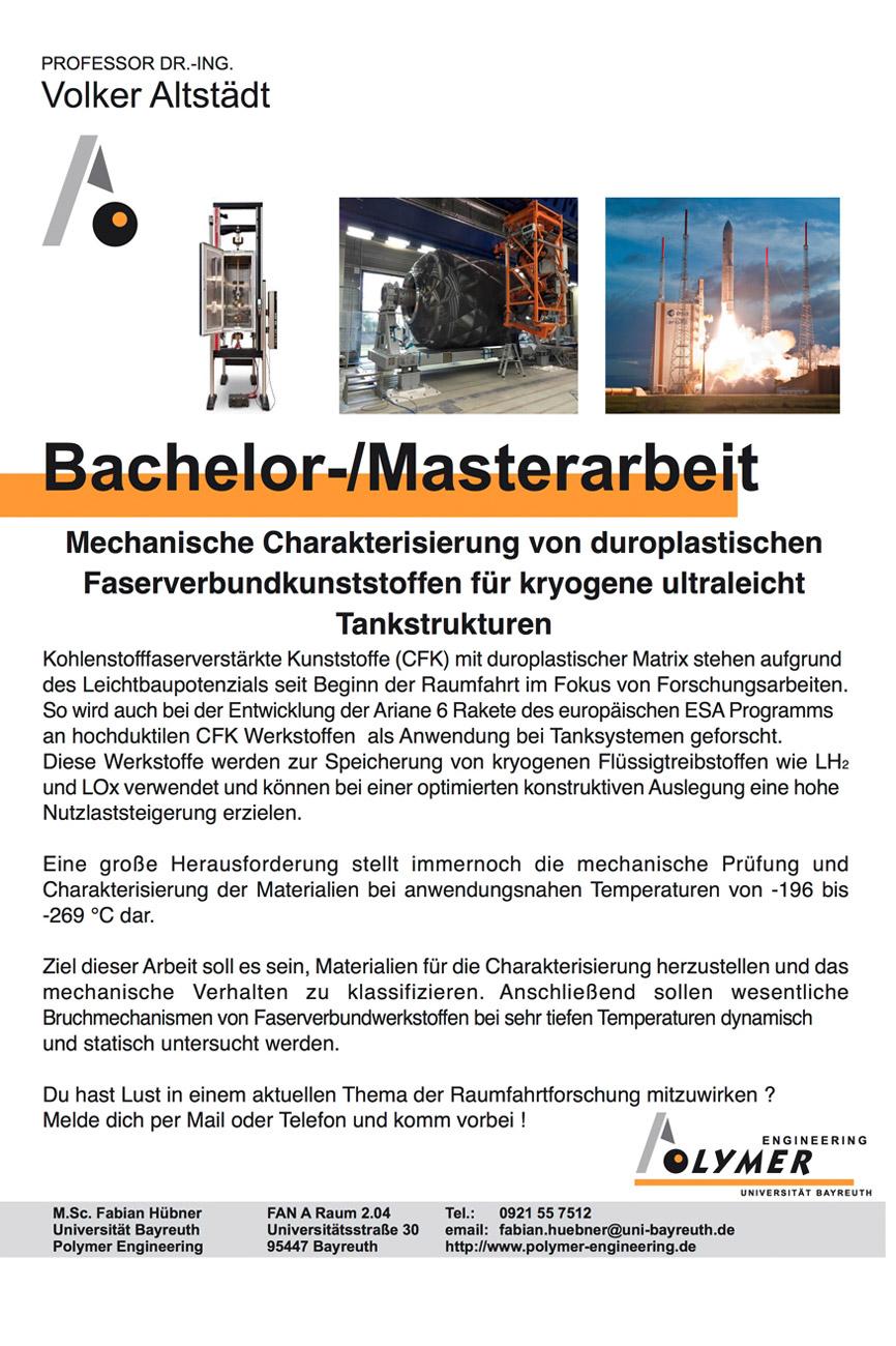 Thema für Bachelor- und Masterarbeit | Polymer Engineering Bayreuth