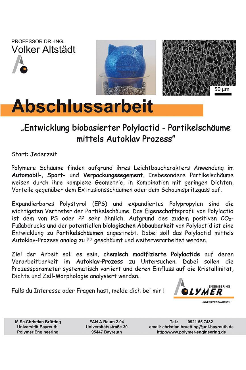 Thema für Abschlussrarbeit | Polymer Engineering Bayreuth