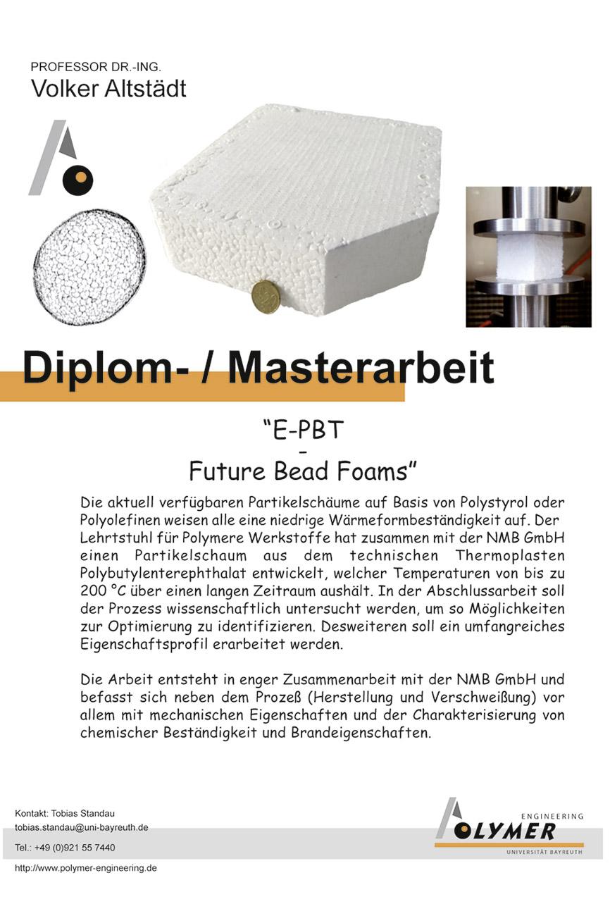 Thema für Diplom- und Masterarbeit | Polymer Engineering Bayreuth