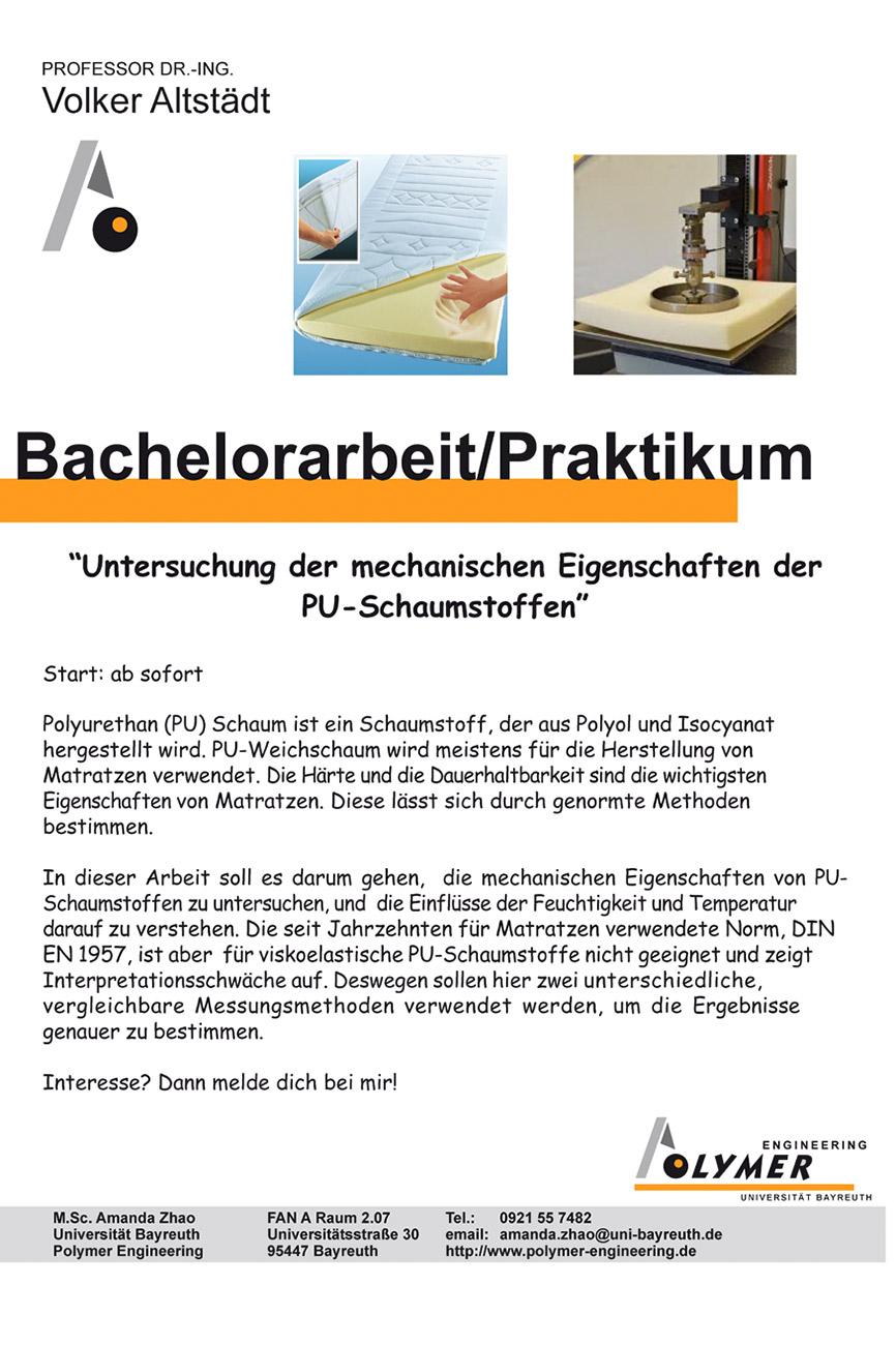 Thema für Bachelorarbeit und Praktikum | Polymer Engineering Bayreuth g