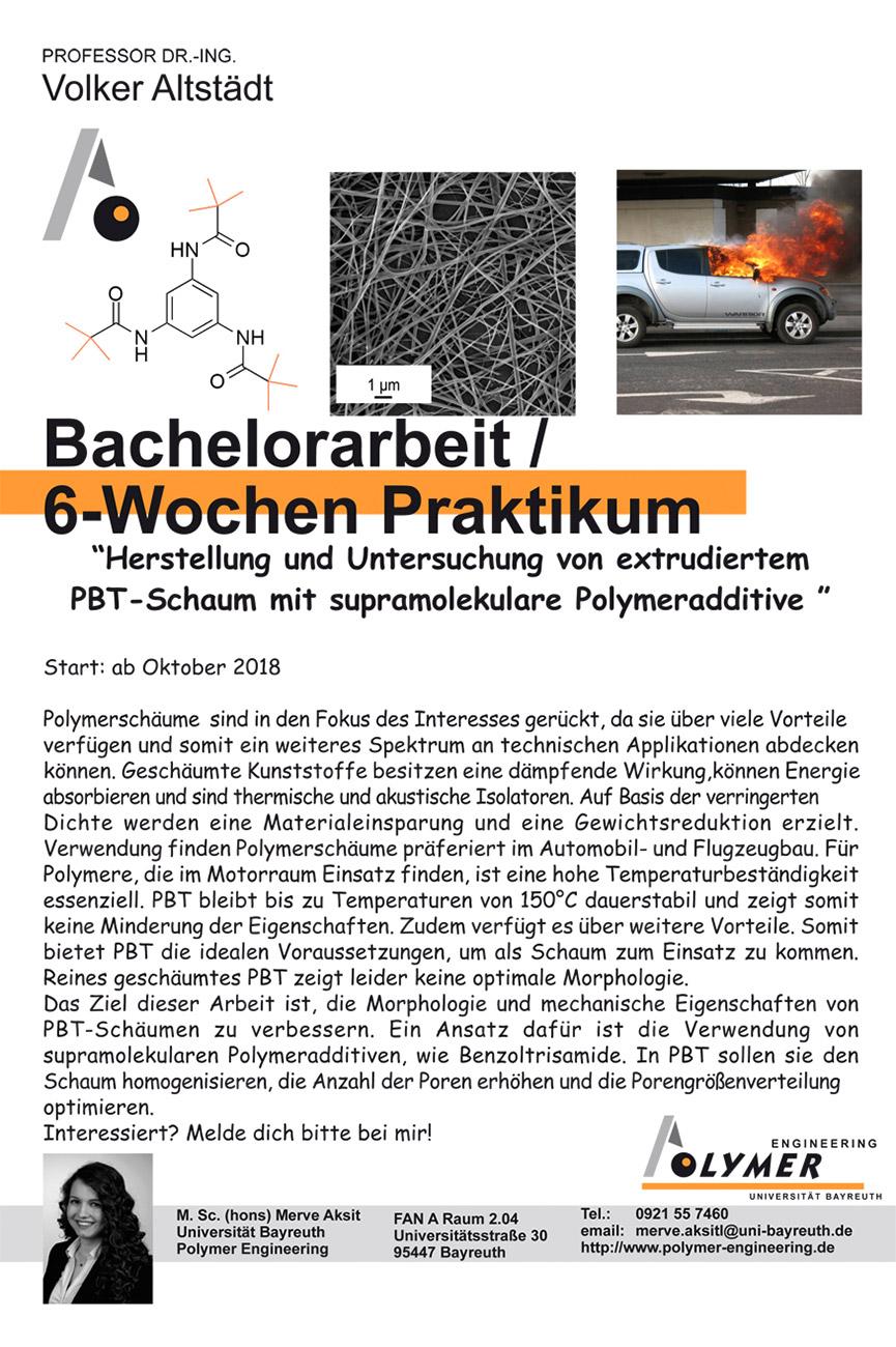 Thema für Bachelorarbeit und Praktikum | Polymer Engineering Bayreuth