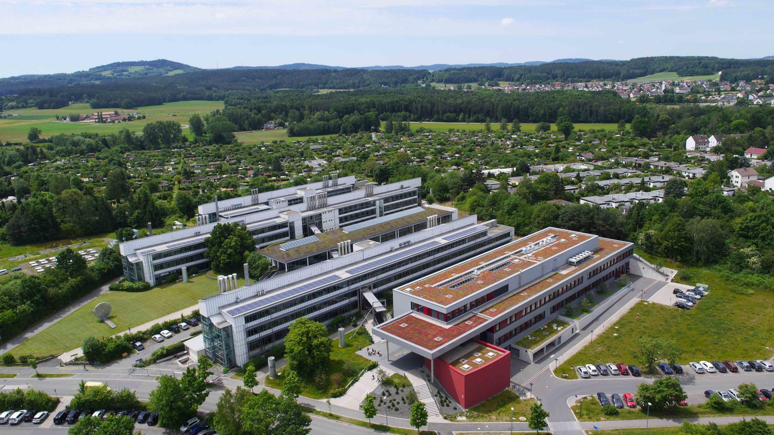 Universität Bayreuth von oben | Polymer Engineering Bayreuth