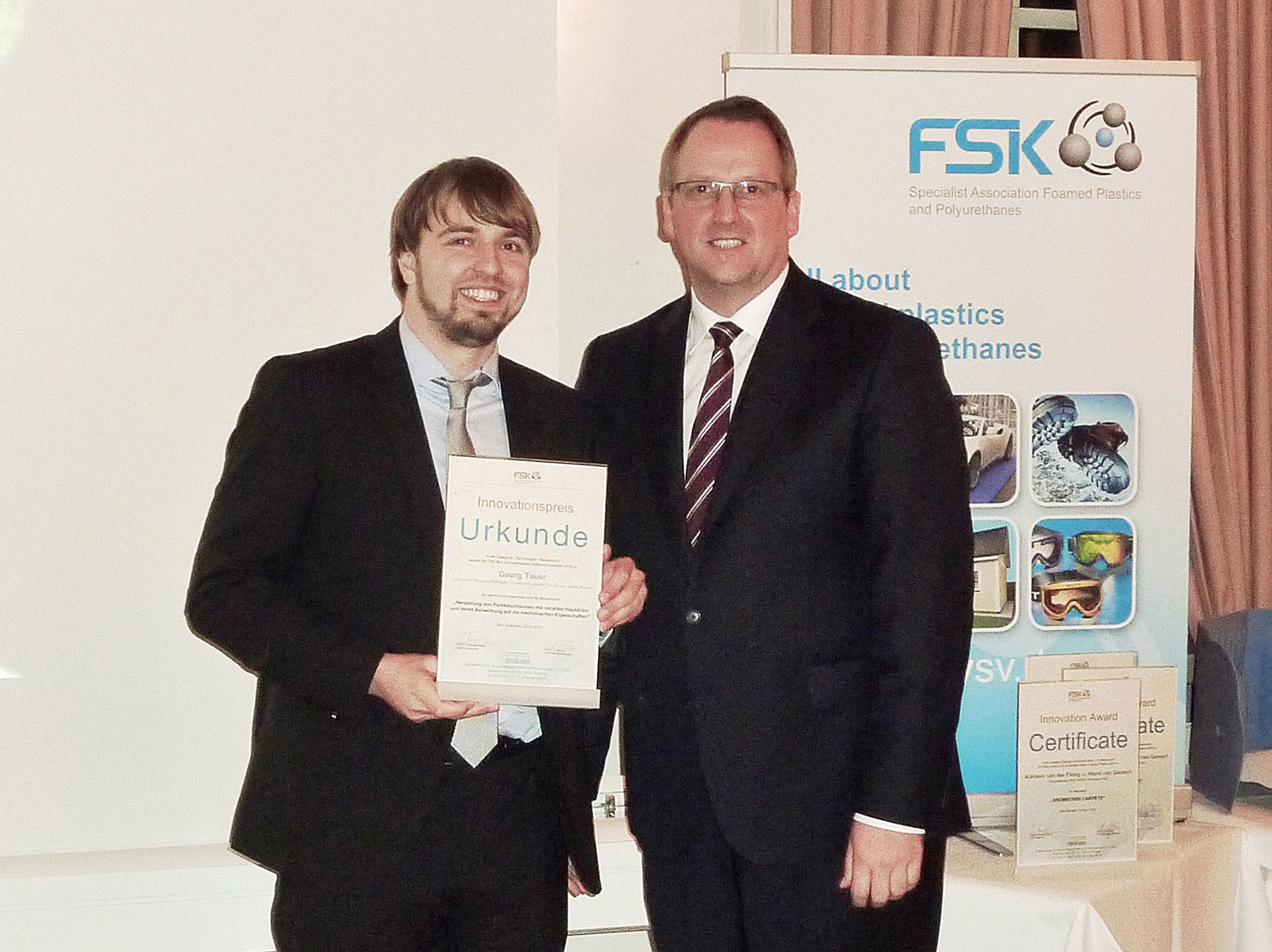 Preisverleihung FSK Innovationspreis Schaumkunstsoffe 2016 | Polymer Engineering Bayreuth