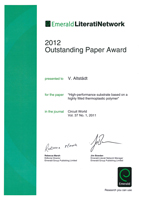 Outstanding Paper Award | Polymer Engineering Bayreuth